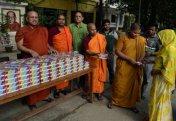 Буддашылар мұсылмандарға ауызашар берді (фото)