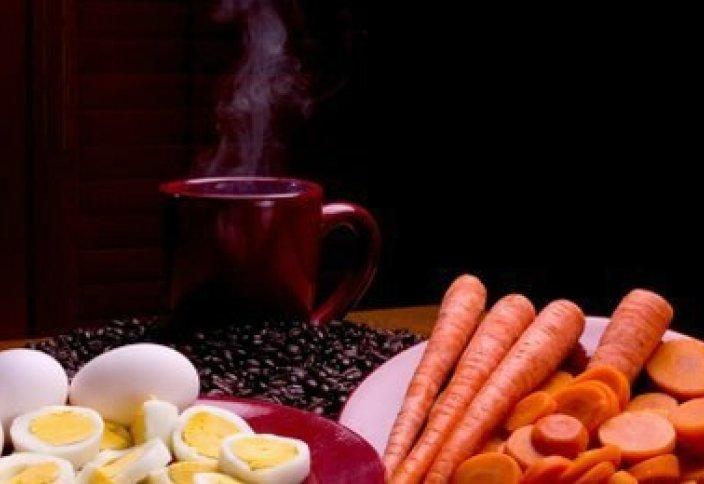 Яйцо, морковь и кофе