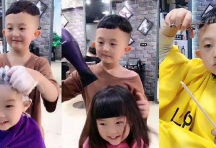 6-летний парикмахер и визажист из Китая покорил Сеть (фото+видео)