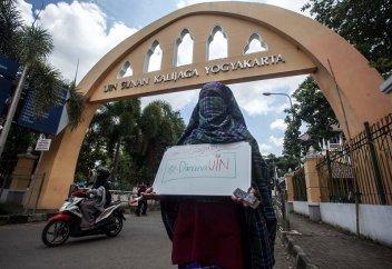 Запрет на ношение никаба в университетах Индонезии не продержался больше недели
