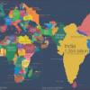 Карта численности населения стран мира, 2018