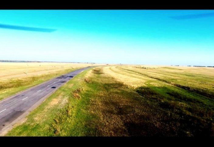 Красивый полет на трассе села Иртышск - Павлодар | Красивый нашид [2K]