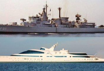 Араб шейхы әскери кемені яхтаға айналдарды (видео)