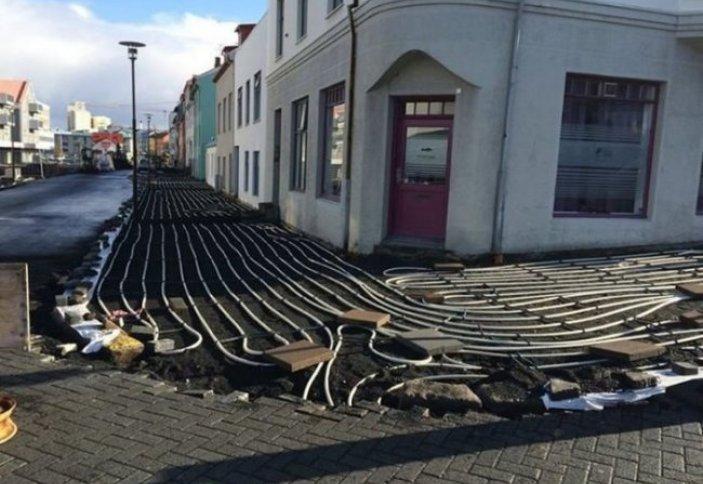Исландиядағы жылы тротуар