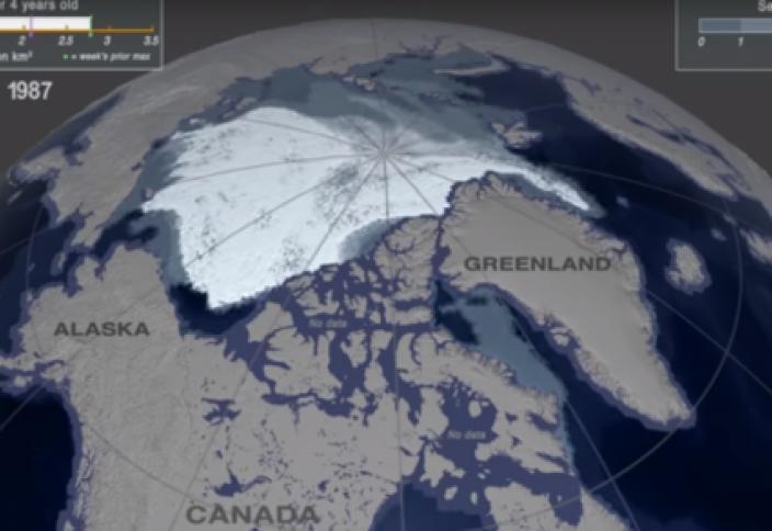 """Катастрофическое таяние """"последней ледяной зоны"""" Земли показали на видео"""