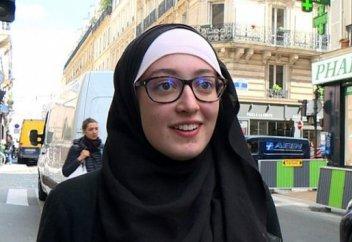 Французская студентка в хиджабе ответила министру внутренних дел