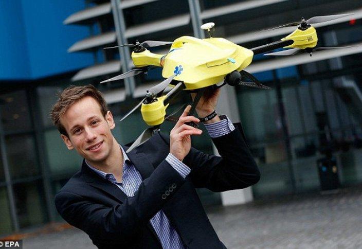 Студент жедел жәрдем дронын ойлап тапты (видео)