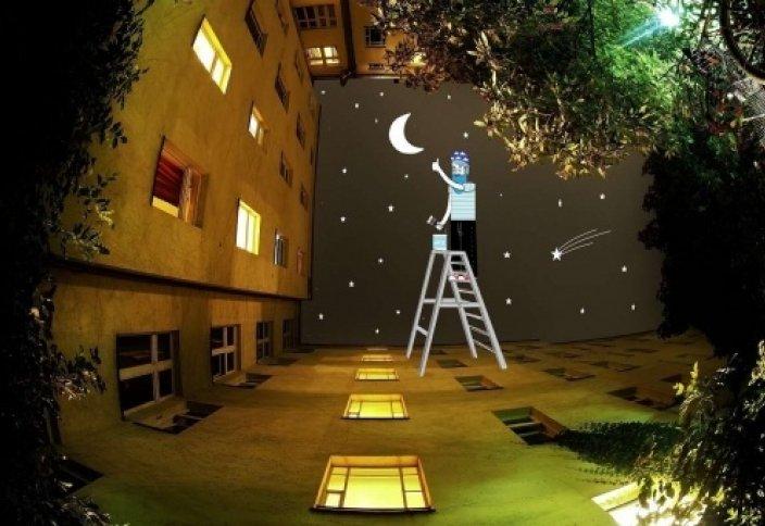 Художник использует небо как холст (фото)
