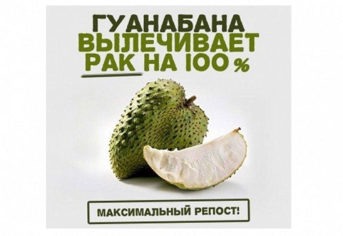 ГУАНАБАНА ЛЕЧИТ РАК НА 100%