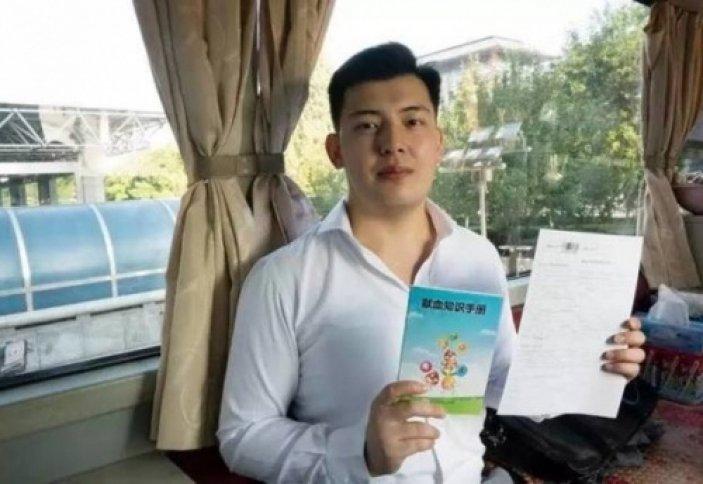 Қазақстандық студент Қытайда 5 литр қан тапсырды