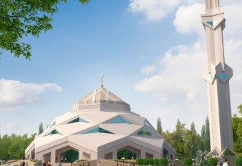 Астанада футуристік стильде мешіт салынып жатыр (фото)