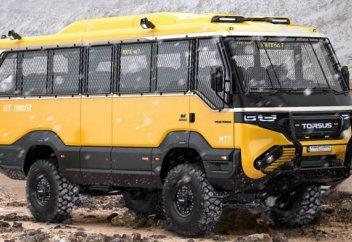 Разные: Украинская компания Torsus выпустила первый в мире автобус-внедорожник