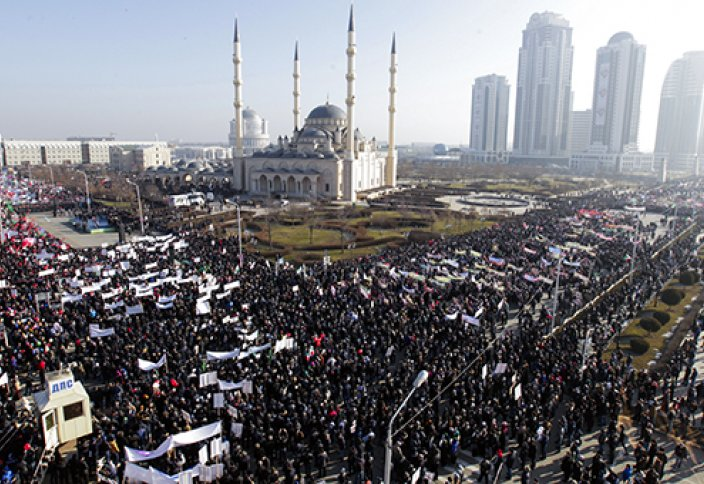 Грозный: митинг «Любовь к пророку Мухаммаду» (Видео)