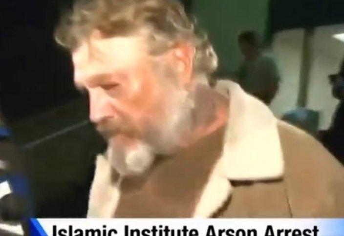 Мұсылмандар мешітті өртеген адамды кешірді