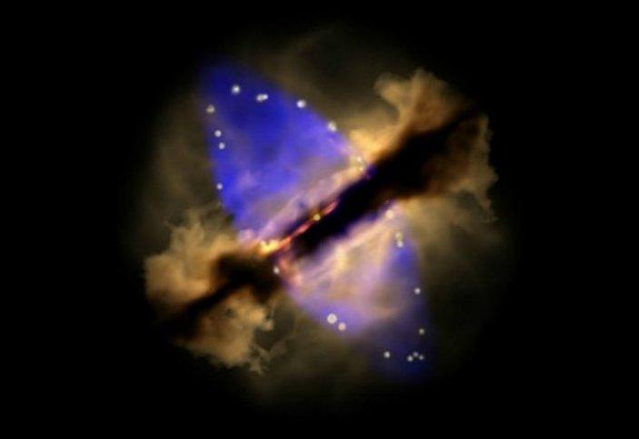 Ғарыш: Жұлдыздың туу тұңғыш рет таспаға тартылды