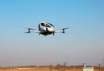 Китайский стартап продемонстрировал дрон-такси в полете (видео+фото)