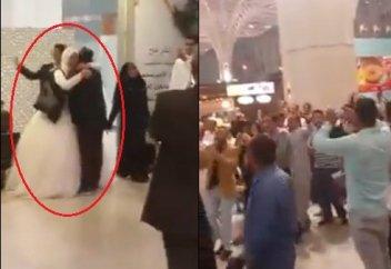 В Медине задержаны жених и невеста за аморальное поведение (ВИДЕО)