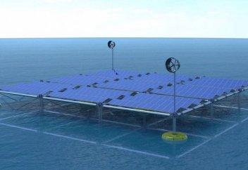 Теңіз платформасы бір мезгілде үш жаңғыртпалы энергия көзінен энергия өндіреді (фото+видео)