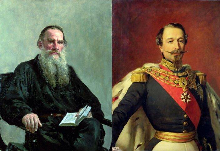 Наполеон да, Толстой да әйелдерінің құрбаны