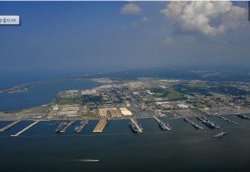 Крупнейшую базу ВМС США может затопить, пишут СМИ