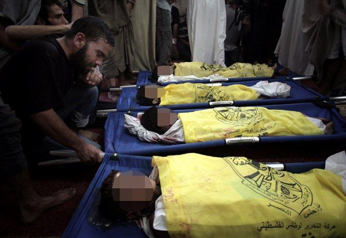 Газада 4 бала израил снарядынан қаза тапты