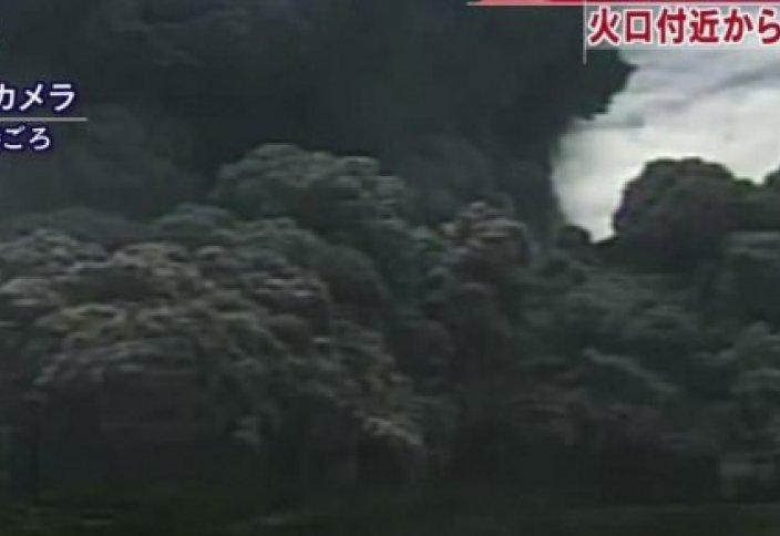 Жапонияда жанартаудың оянған сәті видеоға түсірілді