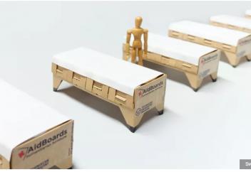 Разные: Одноразовые медицинские койки будут делать из картона