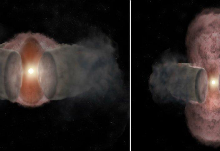 Первые фотографии рождения звезды
